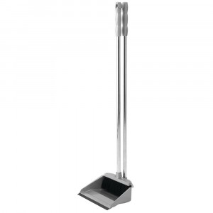 Addis Long Handle Dustpan & Broom Metallic