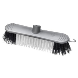 Addis Broom Head Soft Bristle Metallic Silver