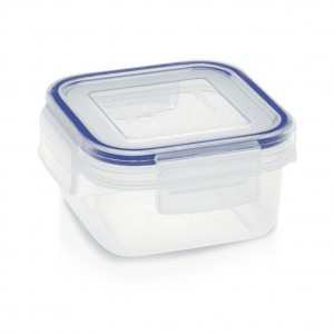 Addis Clip & Close Square Food Storage Box Clear 300ml