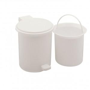 Addis Bathroom Vanity Pedal Bin with Inner Bucket White 2.9 Litre