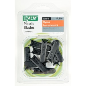 ALM Plastic Blades -  with Small Half-Moon