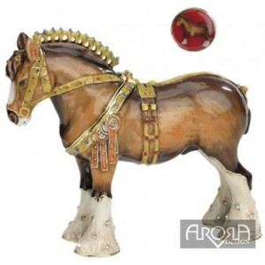 Arora Hidden Treasures Shire Horse Trinket Box