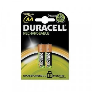 Duracell Rechargeable AA Batteries Pack of 2