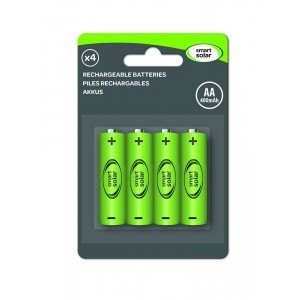 Smart Solar AA 600mAh NiMH Rechargeable Batteries