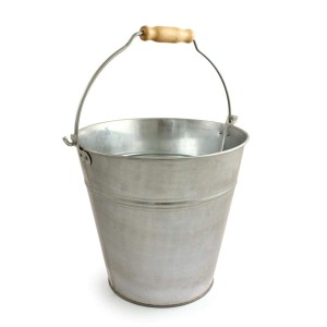 Bentley 12 Litre Galvanised Bucket with Wood Handle