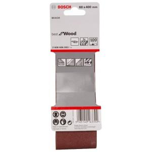 Bosch Sanding Belts 60 x 400mm 100g Pack of 3