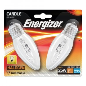 Energizer 20W (25W) Candle Halogen ES (2)