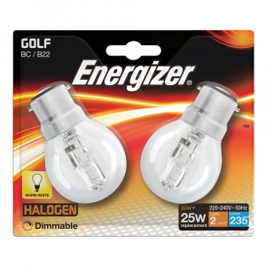 Energizer 20W (25W) Golf Halogen BC (2)