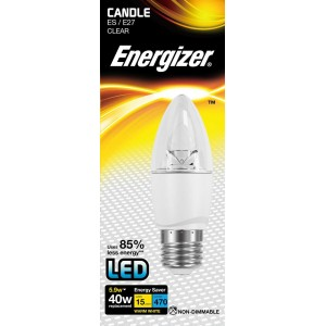 Energizer LED Candle 470LM 5.9W Clear E27 (ES) Warm White