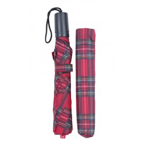 Charles Buyers Red Tartan Umbrella Folding
