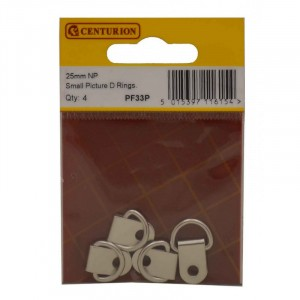 Centurion NP Picture D Rings 25mm Small - Pack of 4