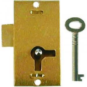"""Centurion Brass Cabinet Lock 75mm x 38mm (3"""" x 1.1/2"""")"""
