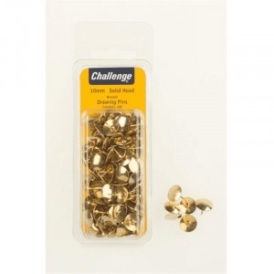 Challenge Drawing Pins Solid Head - Brassed
