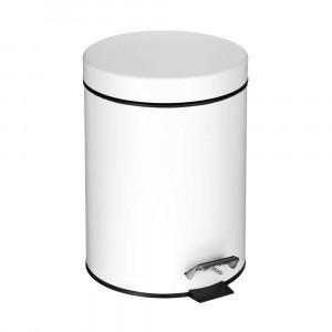 Croydex 5 Litre Pedal Bin - White