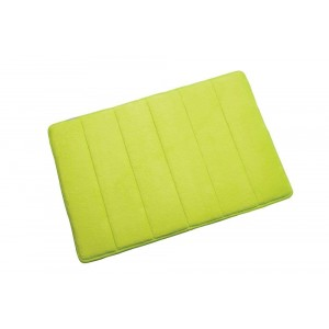 Croydex Memory Foam Textile Bathroom Mat Lime