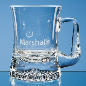 Crystal Galleries 0.255ltr Handmade Curved Star Base Tankard