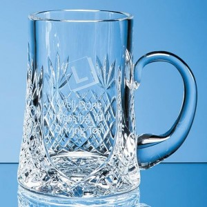 Crystal Galleries 0.3ltr Lead Crystal Panel Tankard