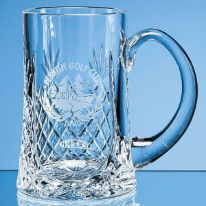 Crystal Galleries 0.57ltr Lead Crystal Panel Tankard