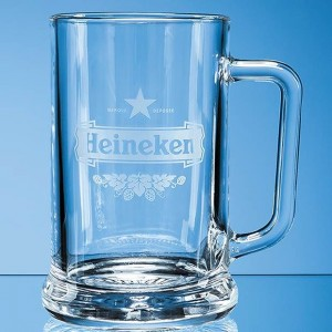 Crystal Galleries 0.7L Straight Sided Beer Tankard
