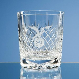 280ml Durham Lead Crystal Panel Whisky Tumbler