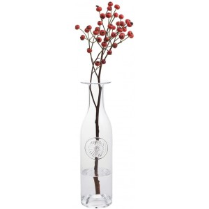 Dartington Gerbera Large Clear Crystal Bottle Vase