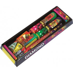 Diamond Fireworks Colourful Selection Box 13 Fireworks