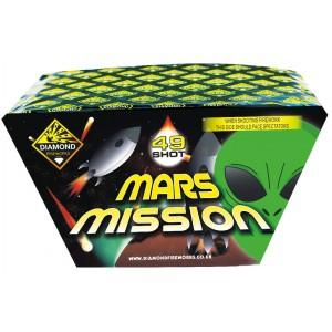 Diamond Fireworks Mars Mission 49 Shot Fan Barrage