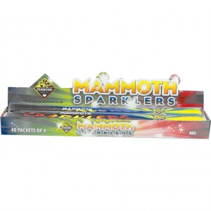 Diamond Fireworks Mammoth Sparklers Pack of 4