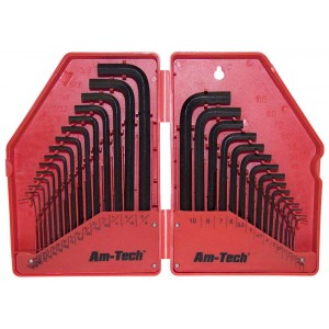 Amtech 30pc Hex Key Set