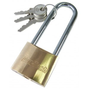 Amtech 38mm Long Shackle Brass Padlock