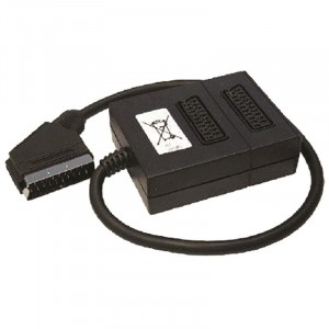 2-Way Scart Adaptor 2 Socket-Plug