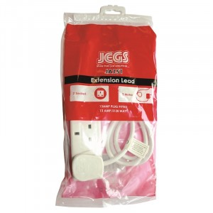 Jegs Extension Lead 13A 2-Gang 2m