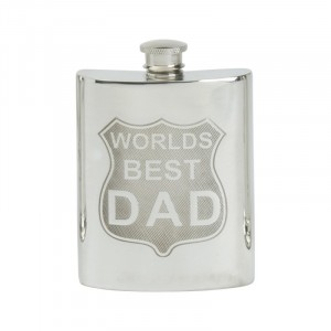 6oz Hip Flask World's Best Dad