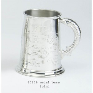 1 Pint Pewter Tankard with Fish Record Design
