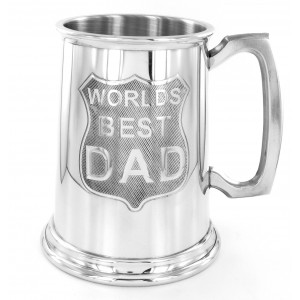 1 Pint Pewter Tankard Worlds Best Dad