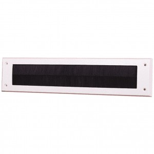 Exitex Internal Letter Plate without Flap 340 x 80mm White