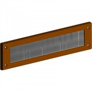 Exitex Internal Letter Plate without Flap 340 x 80mm Brown