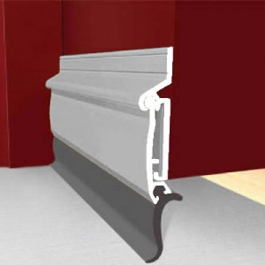Exitex Automatic Rise & Fall Door Draught Excluder 914mm Mill Finish
