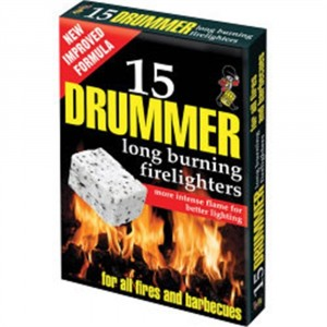 Drummer White Firelighters 15 Pieces