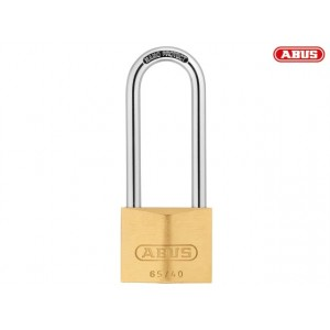Abus 65 Series Brass Padlock 40mm Long Shackle 63mm