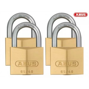 Abus 65 Series Brass Padlock Quad Pack 40mm