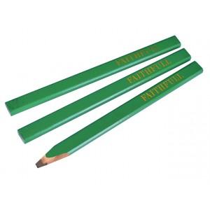 Faithfull Carpenter's Pencils Green (3)