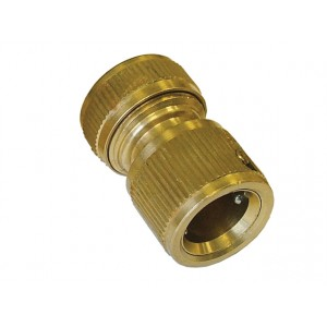 """Faithfull Brass Female Water Stop Connector 1/2"""""""