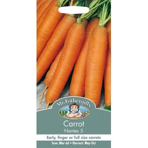 Mr.Fothergill's Carrot Seeds Early Nantes 5