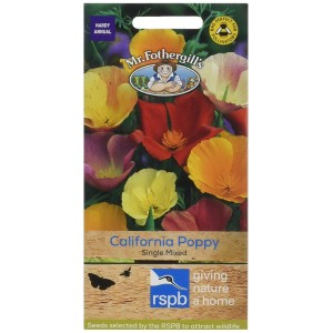 Mr.Fothergill's Californian Poppy Single Mixed Flower Seeds
