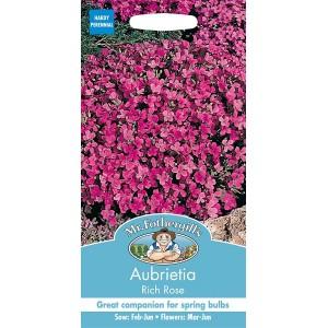 Mr.Fothergill's Aubrietia Rich Rose Flower Seeds