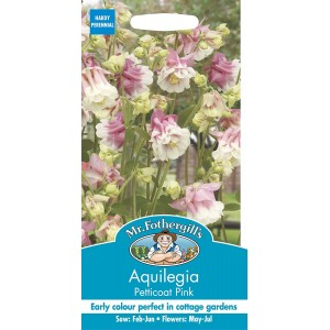 Mr.Fothergill's Aquilegia Petticoat Pink Seeds