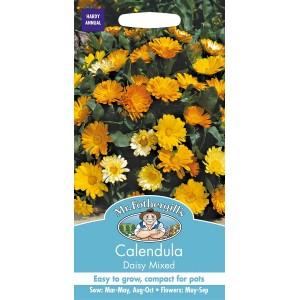 Mr.Fothergill's Calendula Daisy Mixed Flower Seeds