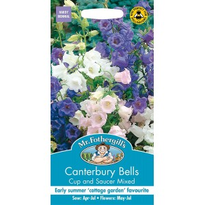 Mr.Fothergill's Canterbury Bells Mixed Flower Seeds