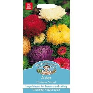 Mr.Fothergill's Aster Duchess Mixed Flower Seeds